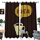 perfect patio arbor design ideas homehot Coffee Room Darkening Wide Curtains Cup of Idea Concept Brew of Creativity and Imagination Sketch Art Customized Curtains Dark Brown Mustard Cream