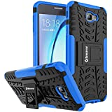 Bracevor Samsung Galaxy On7 Pro / Samsung Galaxy On7 Back Cover Case : Shockproof Defender Hybrid Kickstand - Blue