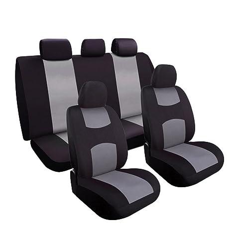 Pretty-jin - Juego de fundas para asientos de coche, color carbón, ajuste