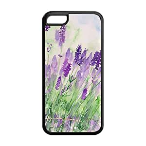 Rubber TPU Case Cover for IPhone 5C ,Provence Purple Lavender (For IPhone 5C)