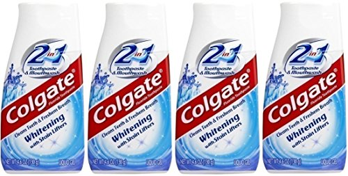 Colgate 2-in-1 Whitening with Stain Lifters Toothpaste 4.60 Oz (4 Packs)