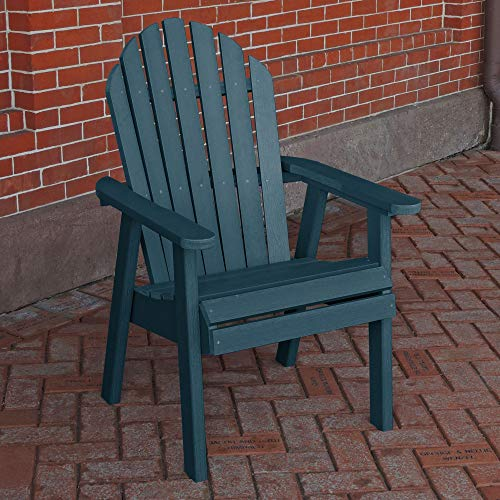 Sequoia Professional CM-CHRSQD2-NBE Commercial Grade Muskoka Adirondack Deck Dining Chair, Nantucket Blue