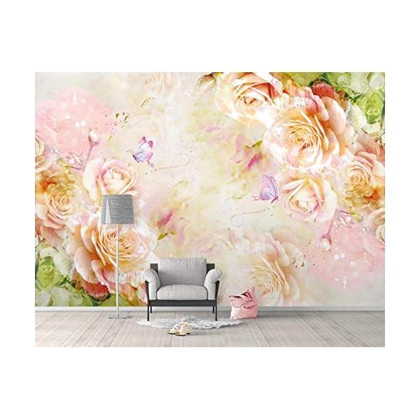 LIWALLPAPER-Carta-Da-Parati-3D-Fotomurali-Pianta-Della-Farfalla-Rosa-Rosa-Camera-da-Letto-Decorazione-da-Muro-XXL-Poster-Design-Carta-per-pareti-200cmx140cm