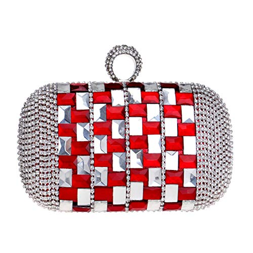Clutch Evening Wedding Red Purse Chain Wallet Shoulder Bags Bags Dress Ladies Womens wxIxR7a4q