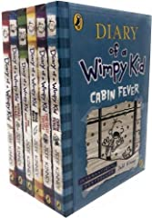 Jeff Kinney, Diary of a Wimpy Kid, 6 Books Collection Set Titles in the Set Diary of a Wimpy Kid, Rodrick Rules, The Last Straw, Dog Days, The Ugly Truth, Cabin Fever.