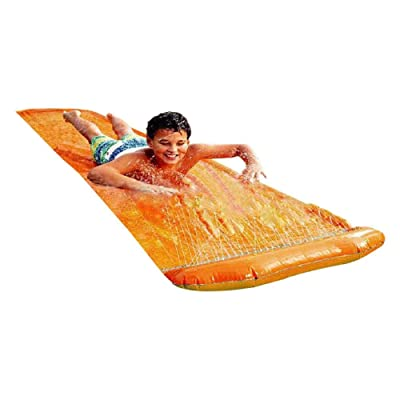 AILAAILA Lawn Water Slide Backyard Water Slide Tarp Toy for Kids Outdoors Have Fun: Sports & Outdoors