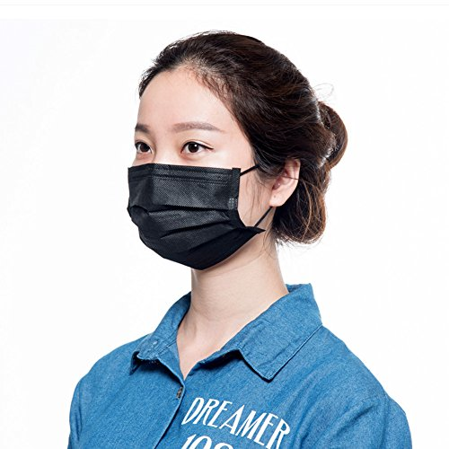 Famous Characters With Beards (Yafeco 50 Pcs Disposable face masks,Filter earloop dust face Masks,Hypoallergenic Breathability Comfort Mask(black))