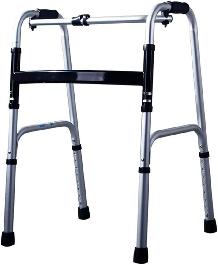 SMX Andador Plegable sin Rueda Andador de Edad Avanzada Ajustable, Ligero Portátil, Anciano Compacto, Ayuda for Movilidad Reducida