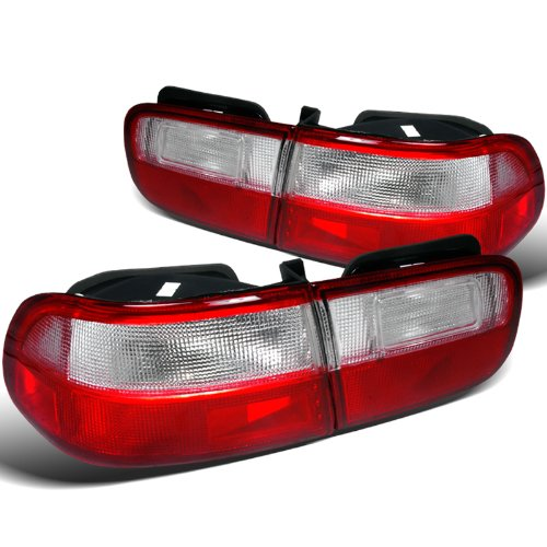 Spec-D Tuning LT-CV92RPW-DP Red//Clear Tail Light