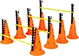 Trademark Innovations Adjustable Hurdle Cone Set