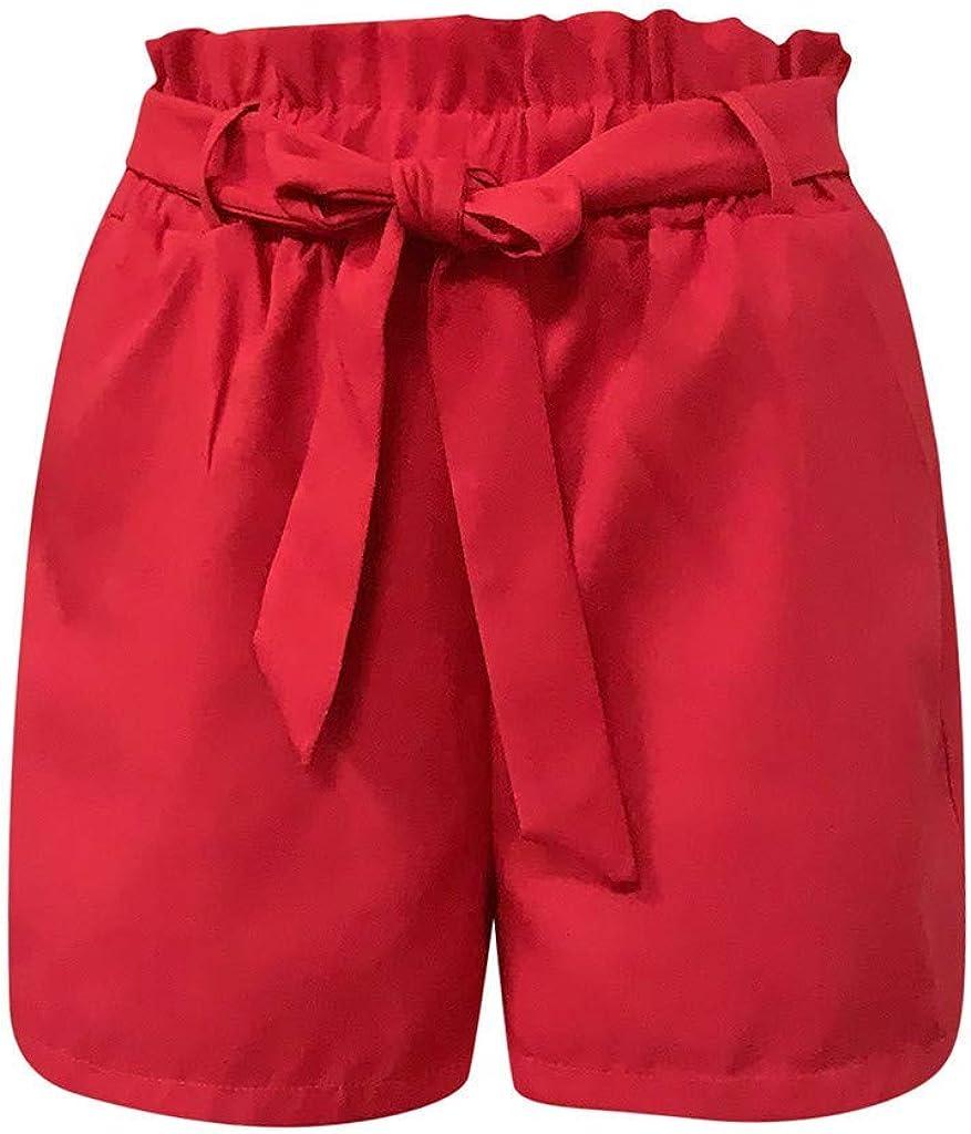 MOTOCO Summer Womens Bow Tie Button High Waist Casual Beach Shorts Size 8-22
