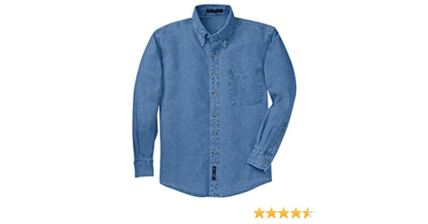 94942adf287 Port Authority Tall Long Sleeve Denim Shirt at Amazon Men s Clothing store