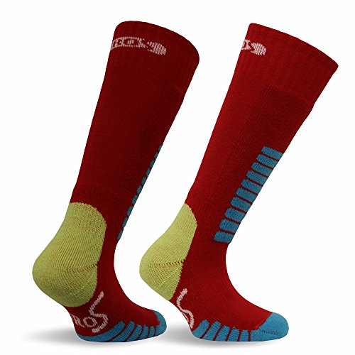 Eurosocks 0412J Child Ski Supreme Junior Socks, Red, - Kids Junior