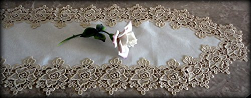 Rose Lace Table Runner Dresser Scarf 65