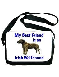 My Best Friend is Irish Wolfhound Messenger Bag