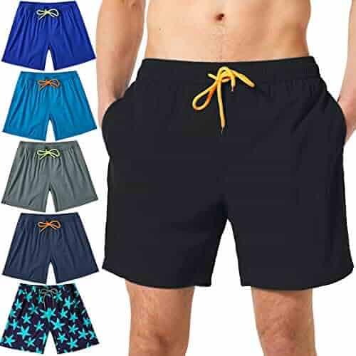 cad97b4bcfe62 Felottis Mens Swim Trunks,Quick Dry Men Beach Short,Stretch Swimming Trunks  Mesh Lining