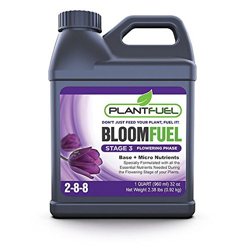 Hydroponic Soil - Plant Fuel Nutrients | BLOOM FUEL | Ultra-Premium Liquid Fertilizer for soil, hydroponics, and other grow mediums. Specially Formulated for the flowering stage of your plants. (Quart Size)