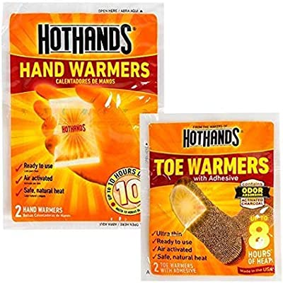 Toe Warmers (2) toe and (10) hand