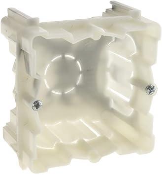 BeMatik - Caja de empotrar 66x66mm cajetín de Conexiones eléctricas: Amazon.es: Electrónica