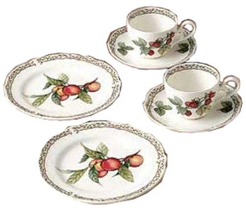 Noritake China Prima Royal Orchard Tea Time pair set Y6847/9416 (japan import)