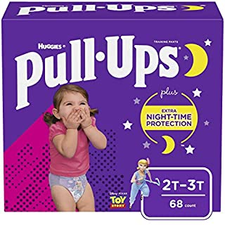 Pull-Ups Night-Time Girls' Training Pants, 2T-3T, 68 Ct