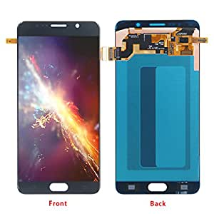 HJSDtech LCD Touch Glass Screen Display Digitizer Assembly Replacement for Samsung Galaxy Note 5 N920 N920f N920t N920a(Azure Blue/Black)