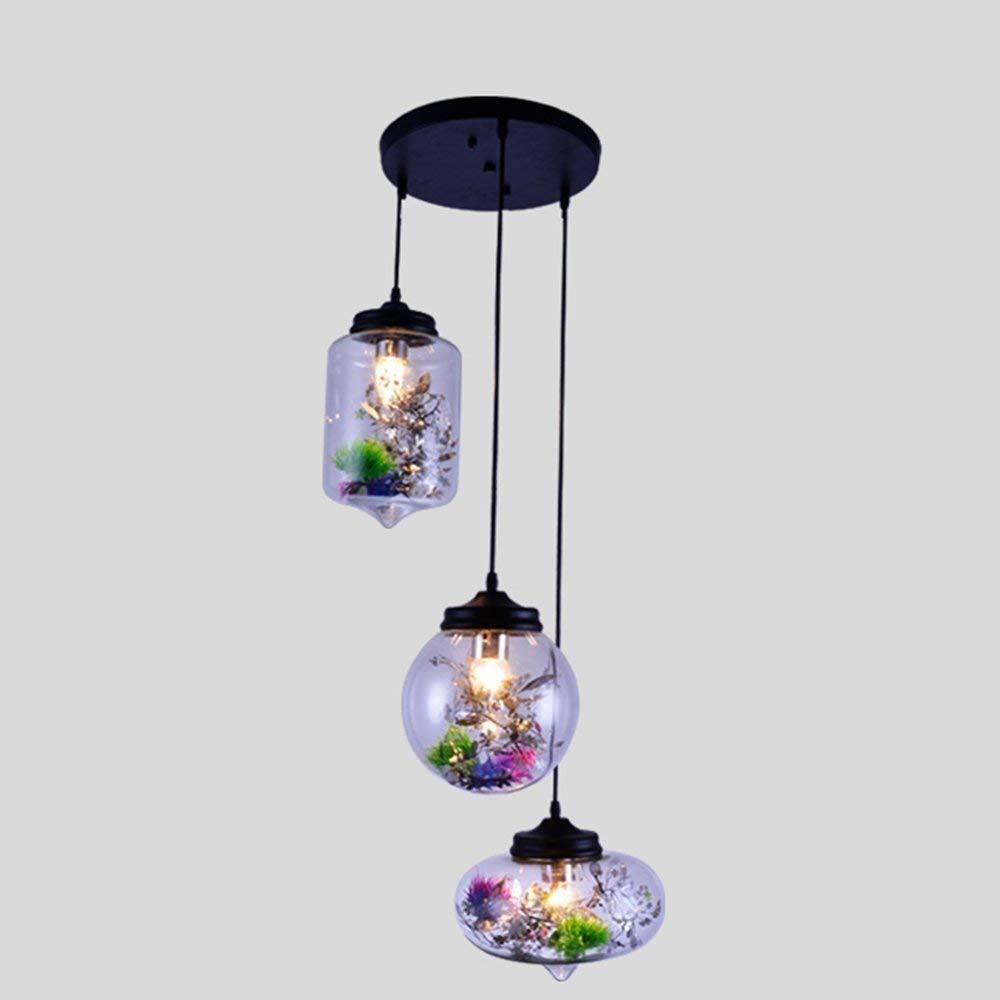 Moderne skandinavische & kreative Blaume Glas Kronleuchter Lampenschirm Restaurant Die Schlafzimmer Arbeitsraum Lounge Bar Kronleuchter Beleuchtung von Objekten der Dekoration Lichter (C) Farbe