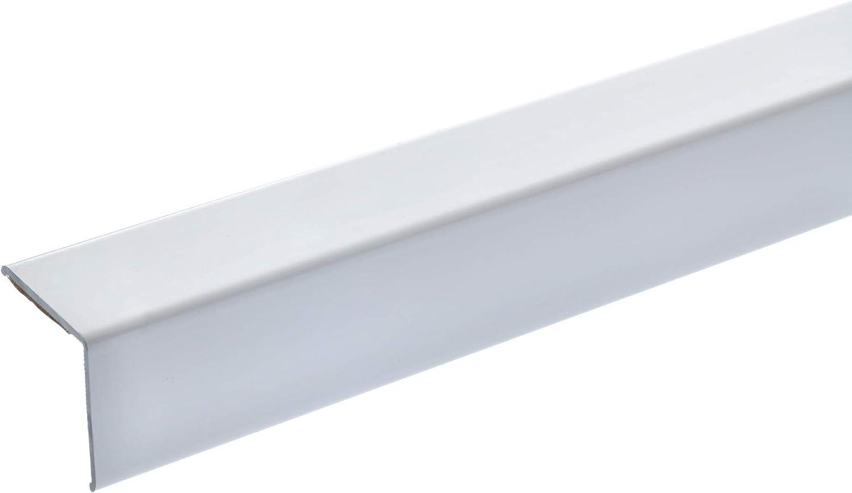 Winkel-Profil 150cm graphitgrau acerto 38157 Eckschutzprofil Aluminium Winkelleiste als Kantenschutz f/ür W/ände 20 x 20mm * Selbstklebend * Made in Germany * Dreifach gekantet ohne Spitze