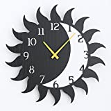 Imoerjia Creative Continental Antique Decorative Wall Clock Personalized Wall Art Living Solar Clock Living Room Silent Watches