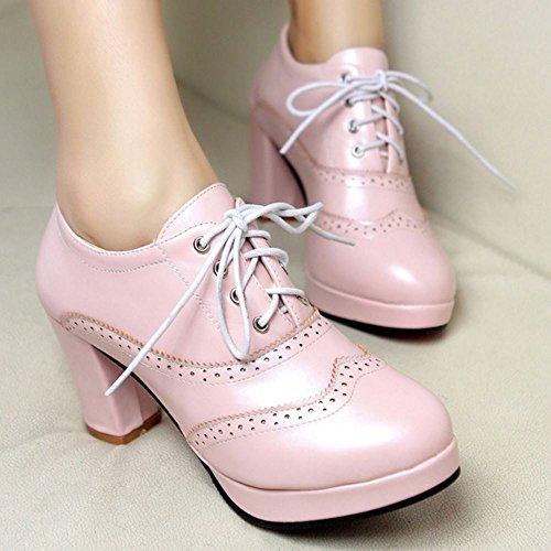 Scarpe Oxford Donna Mode Piattaforma Pink Zanpa ATq0P
