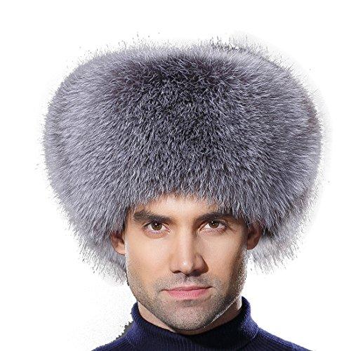 7d8aea64011 URSFUR Winter Men Fur Hat Real Fox Fur Russian Ushanka Trapper Cap ...
