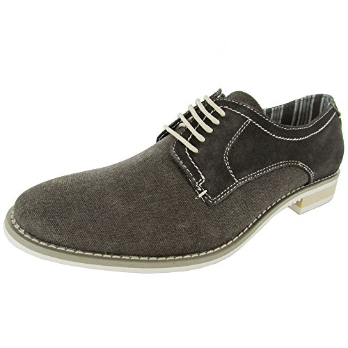 Steve Madden Hombres P-treme Lace Up Oxford Shoe Gray Fabric