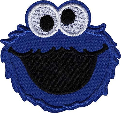 Cookie Monster Head Sesame Street Iron Sew On Patch / Logo ()