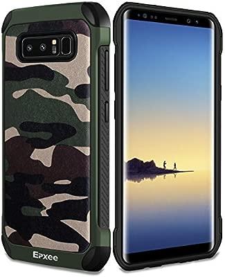 Epxee Funda para Samsung Galaxy Note 8, Silicona Shock-Absorción Case Carcasa para Samsung Galaxy Note 8 (Camuflado-001)