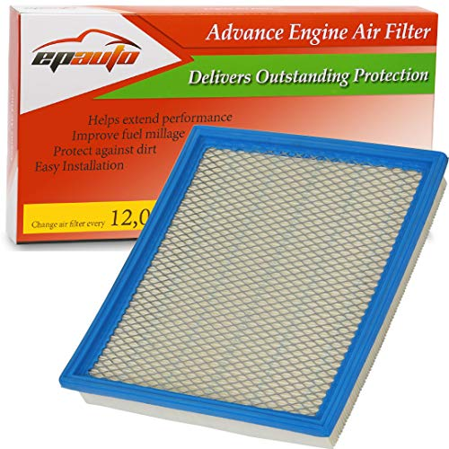 2017 Nissan Frontier Xterra Engine - EPAuto GP440 (CA7440) Replacement for Infiniti/Nissan/Suzuki/Jeep Extra Guard Panel Air Filter for QX56 (2004-2010), Armada (2005-2015), Frontier V6 (2005-2018), NV1500 (2012-2018)