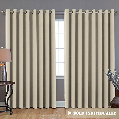H.VERSAILTEX Blackout Thermal Insulated Room Darkening Extra Long Curtains/Drapes (100