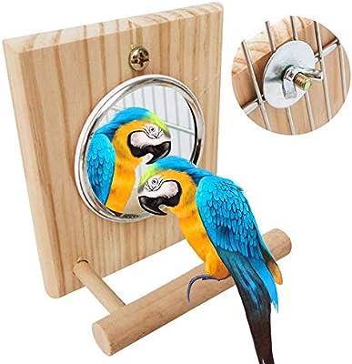 ranninao Juguetes para pájaros, Escalera oscilante para Loros, Juguete para pájaros Percha para pájaros Barra de Soporte Espejo para pájaros Soporte para Loros Palo Escalera para Columpios Percha: Amazon.es: Hogar