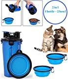 Cheap VinmonnPet Portable Dog Water Bottle with Collapsible Portable Dog Bowl / 2 in 1 Dog Food Travel Container Great for Walking and Camping