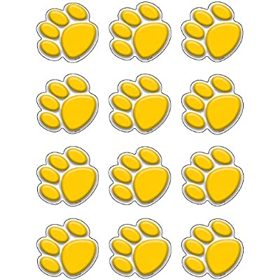 Teacher Created Resources Mini Accents, Gold Paw Prints (5120): Office Products