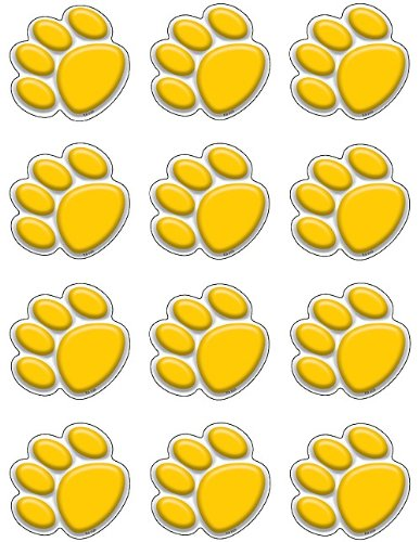 (Teacher Created Resources Mini Accents, Gold Paw Prints (5120))