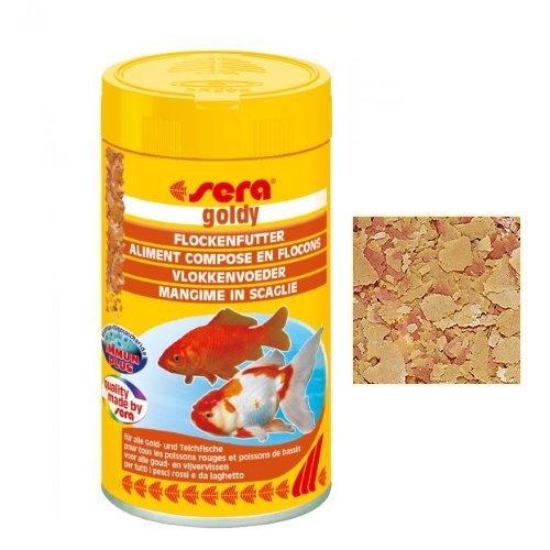 Sera goldy mangime in scaglie per tutti i pesci rossi e for Animali da laghetto