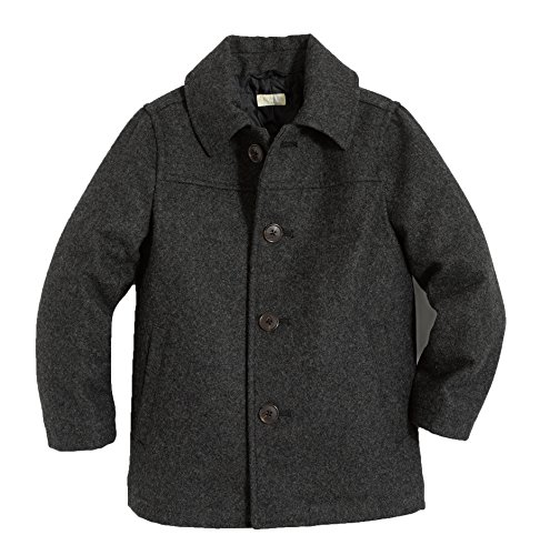 (J. Crew Crewcuts Boy's Heather Pewter Wool Bleachers Coat with Thinsulate Size 2)