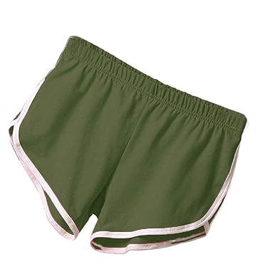3b175e4a6d DAZZILYN Women's Performance Summer Sports Shorts Running Short Pants Gym  Workout Yoga Shorts Army Green