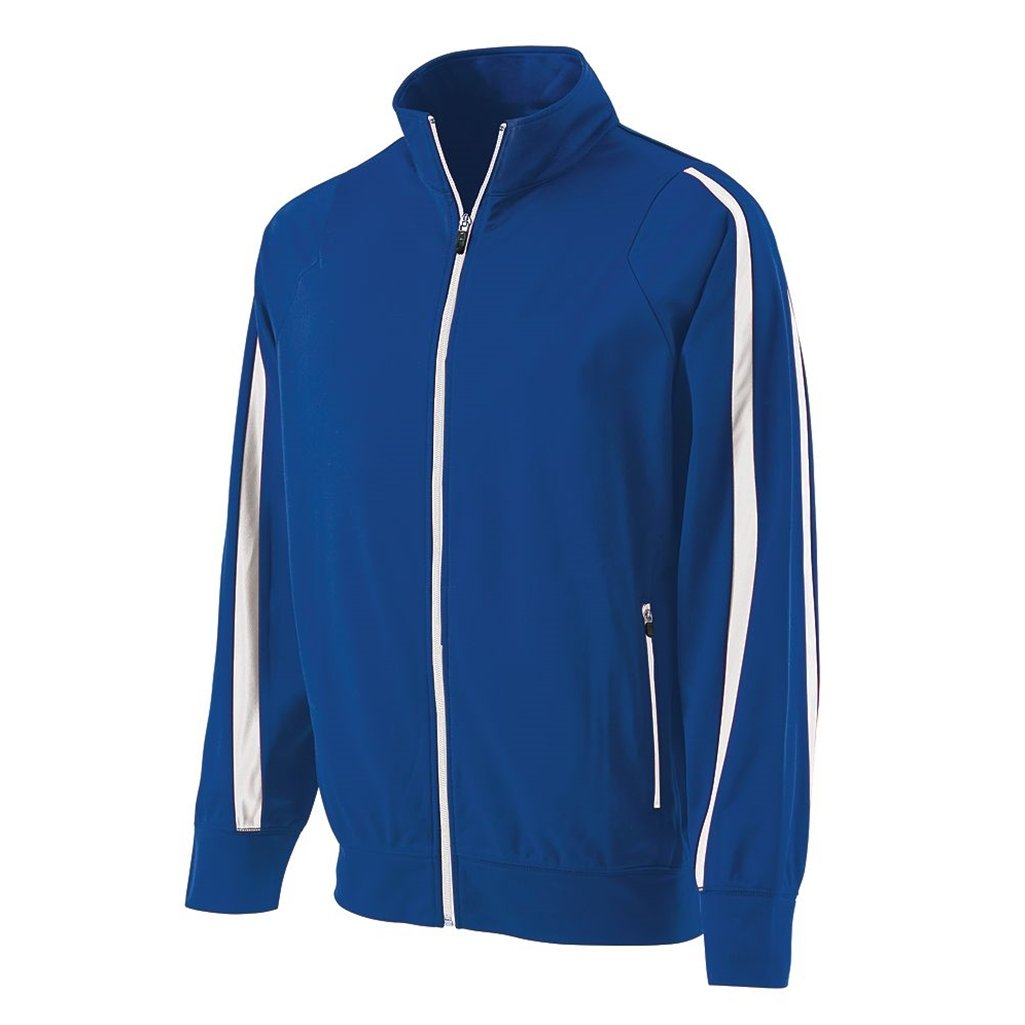 Holloway Youth Determination Jacket (Small, Royal/White) by Holloway