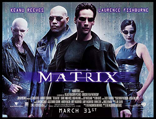 THE MATRIX KEANU REEVES 1999 ORIGINAL SUBWAY 45X60 MOVIE POSTER ROLLED