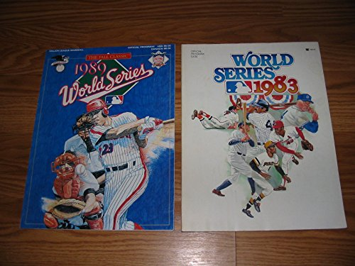 1983 & 1989 WORLD SERIES PROGRAMS ---2 Nice--PHILLIES w/PETE ROSE & DODGERS GIANTS & A