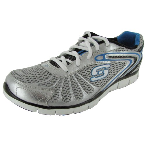 Skechers Womens Gratis-Cloud 9 Sneaker Shoe Grey/Blue p8hZV