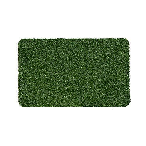 YK Decor Artificial Grass Doormat Indoor Outdoor Fake Turf Welcome Door Mat for Entry Porch Patio Entrance Mats Easy Clean
