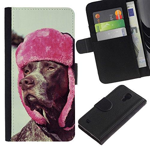 EuroCase - Samsung Galaxy S4 IV I9500 - Rhodesian Ridgeback vizsla dog - Cuero PU Delgado caso cubierta Shell Armor Funda Case Cover