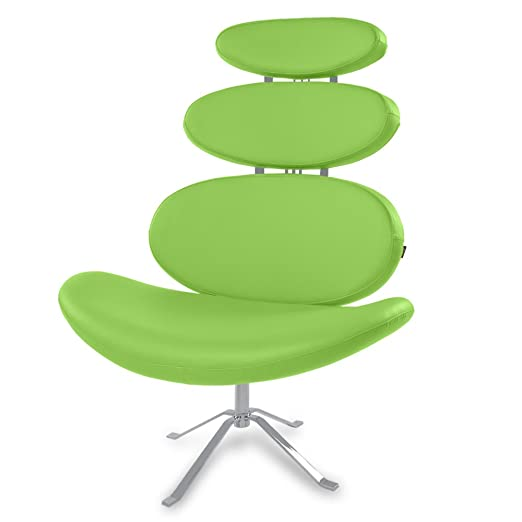 Amazon.com: Zuri Furniture Pebble Modern Swivel Occasional Chair   Lime  Green: Kitchen U0026 Dining